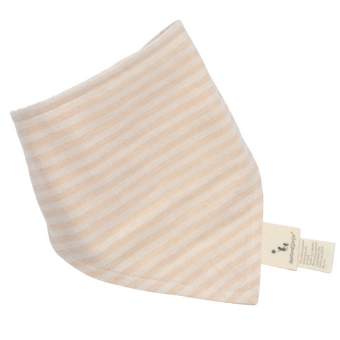 Baby Feeding Bib Brown Stripes