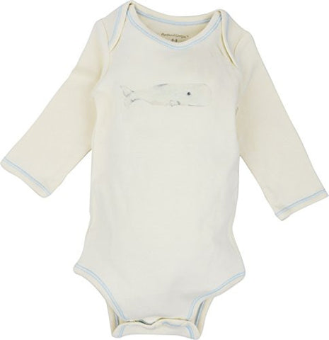 Long Sleeve Unisex Baby Onesie w/ Imprints Whale