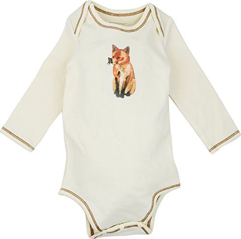 Long Sleeve Unisex Baby Onesies w/ Imprints Fox