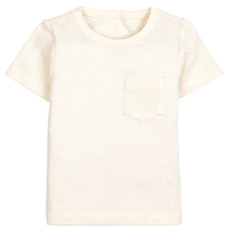 Unisex Baby Short Sleeve Tee Shirt Top BEIGE