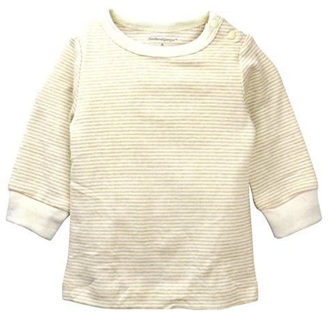 Baby Pajamas Top Brown Stripe
