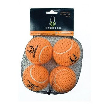 Hyper Pet Tennis Balls 4-Pack Orange Mini