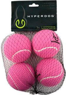 Hyper Pet Tennis Balls 4-Pack Pink Mini