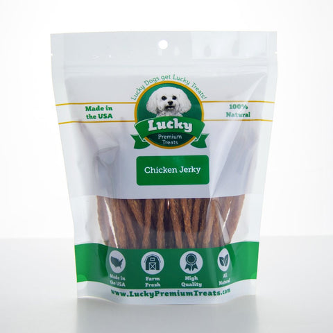 Lucky Premium Chicken Jerky Straws