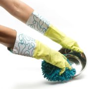 Messy Mutts Cotton Lined Rubber Washing Glove