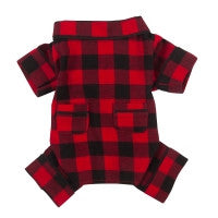 Fab Dog Flannel Pajamas Buffalo Check