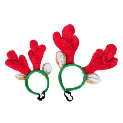 Zippy Paws Holiday Antlers SM-LG