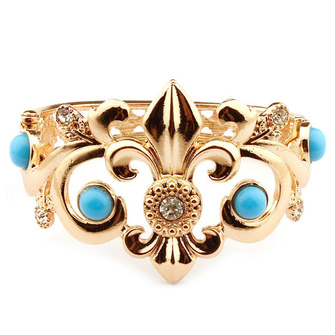 Bangle Collection  Gold and Turquoise