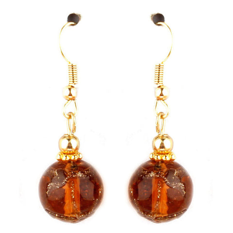 Cleo Collection Amber Murano Glass Earrings