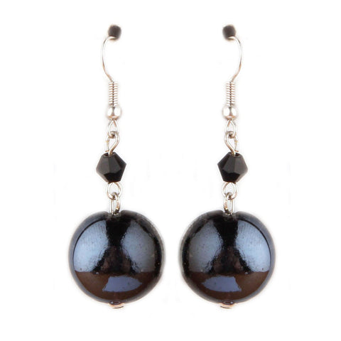 Luna Black Earrings