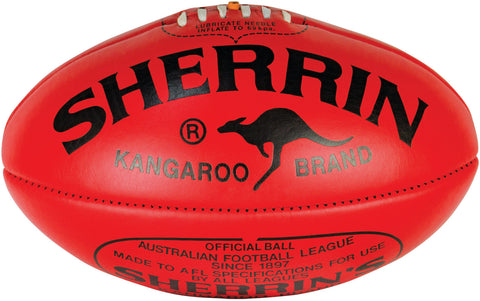 Sherrin KB Footballs - red/veg tan yellow, size 4/5
