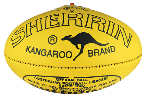 Sherrin KB WorkSafe AFL Vic Country poly yellow football