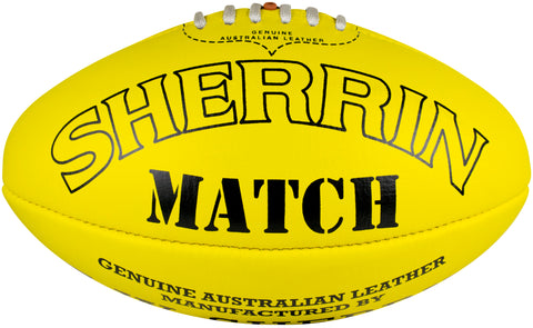 Sherrin Match footballs - red/yellow, sizes 3-5