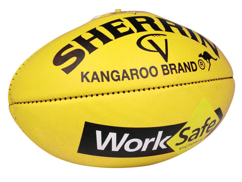 Sherrin KB WorkSafe AFL Vic Country Senior Game veg tan football