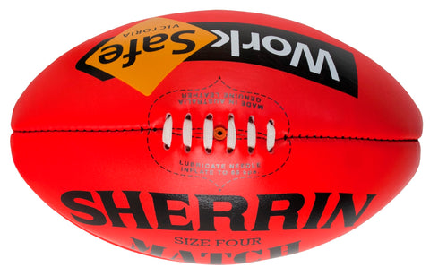 Sherrin Match WorkSafe AFL Vic Country footballs - red/yellow, sizes 5-3