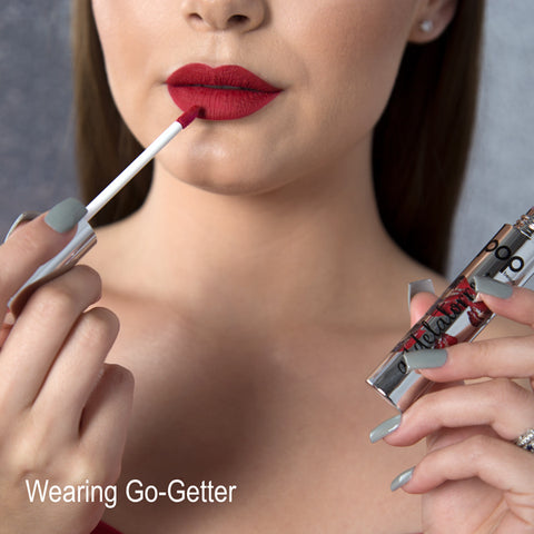 POP Permanent Pout by Aimee De La Torre Wearing Go-Getter