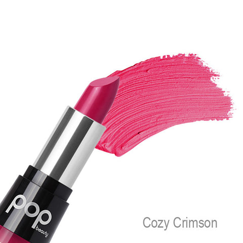 POP Beauty Matte Velvet Lipstix - Cozy Crimson