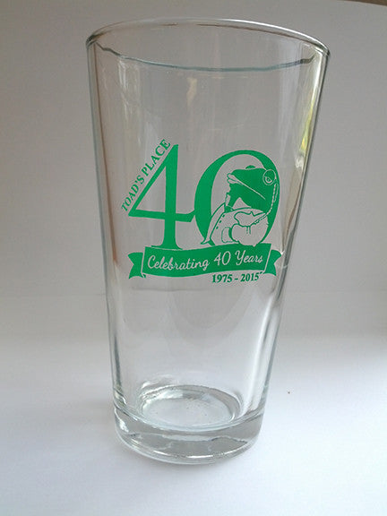Toad's Place Pint Glass - 40th Anniversary