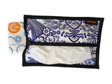 Cargo Tissue Dispenser (Oilcloth) Blue White Toile