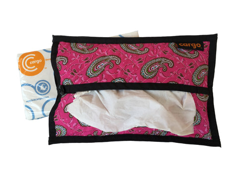 Cargo Tissue Dispenser (Quilted) Pink Paisley