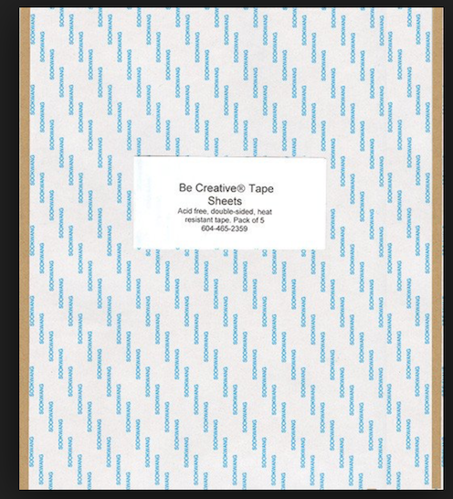 "8.5"" x 11"" sheets (5) Sookwang Double Sided Tape"