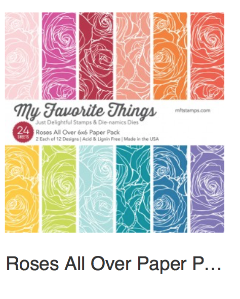 MFT Roses All Over 6 x 6 Paper Pad