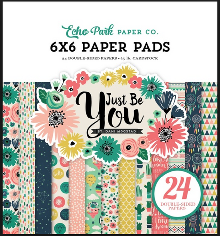 Echo Park Just Be You 6 x 6 Paper Pad (24 pages)