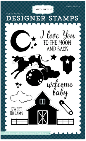 Echo Park To The Moon and Back Stamp Set
