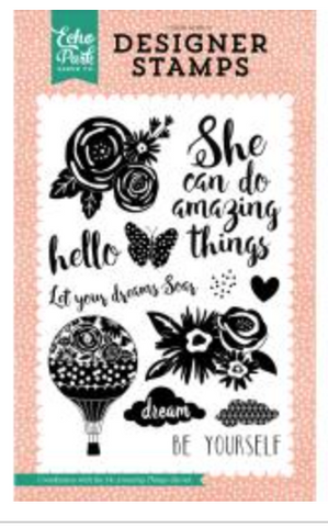Echo Park Do Amazing Things Stamp Set