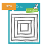 Lawn Fawn Slide Zig Zag Square Stackables Dies