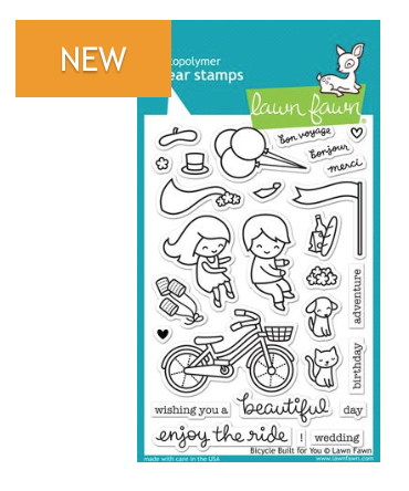 Lawn Fawn Bicycle Built for you Stamp Set