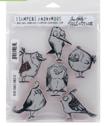 Stampers Anonymous Tim Holtz Crazy Birds Stamps