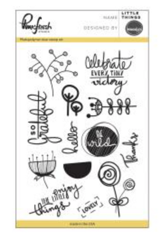 "Pinkfresh Studio Clear Stamp Set 4""X6"" Little Things."