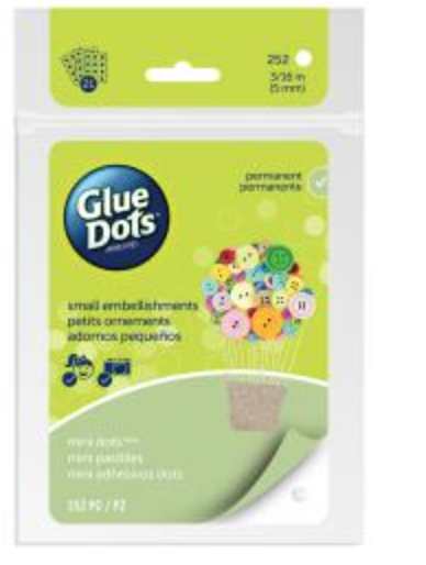 "Glue Dots Adhesive Sheets  Mini (.1875"" 252/Pkg)"