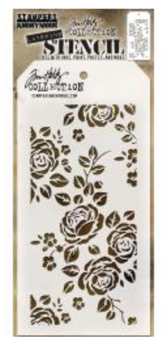 "Tim Holtz Layered Stencil 4.125""X8.5"" Roses"