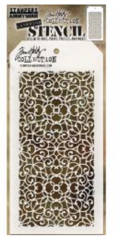 "Tim Holtz Layered Stencil 4.125""X8.5"" Ornate"