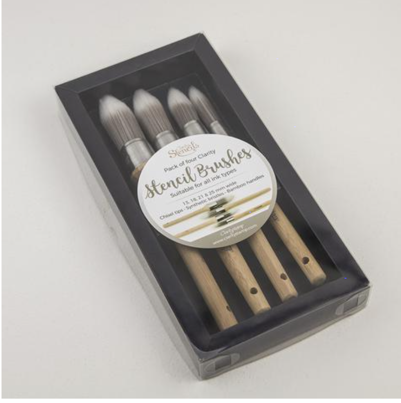 Clarity Stencil Brushes - Set of 4 brushes