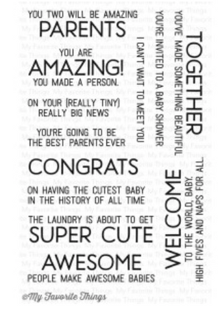 MFT Welcome Baby Stamp Set