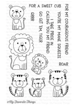 MFT Lions and Tigers Stamp Set