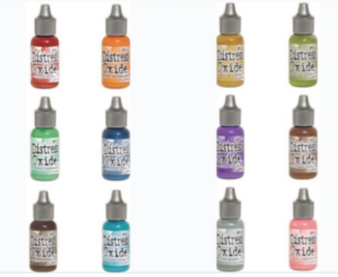 Tim Holtz Oxide  12 Re-inkers .5 oz each