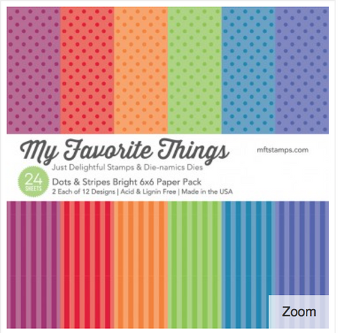 MFT Dots & Stripes Bright 6 x 6 Paper Pad