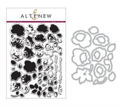 Altenew Vintage Roses Stamp & Die Set Bundle SALE