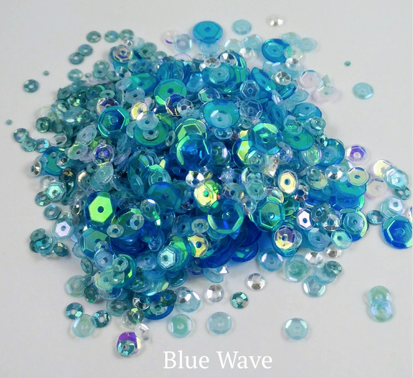 Blue Wave Sequin-tials