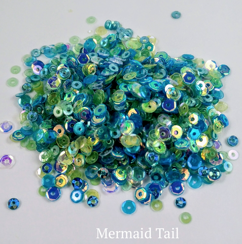 Mermaid Tail Sequin-tials