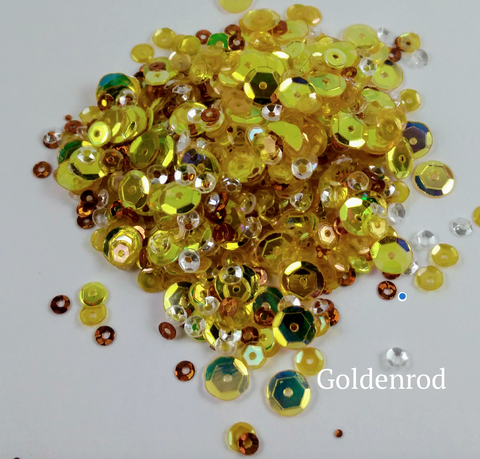 Goldenrod Sequin-tials