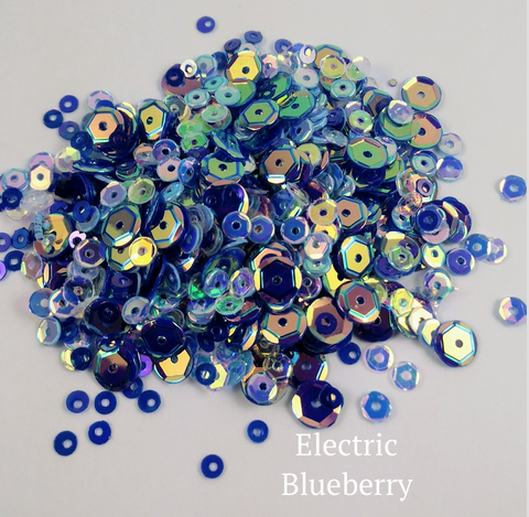 Electric Blueberry Sequin-tials