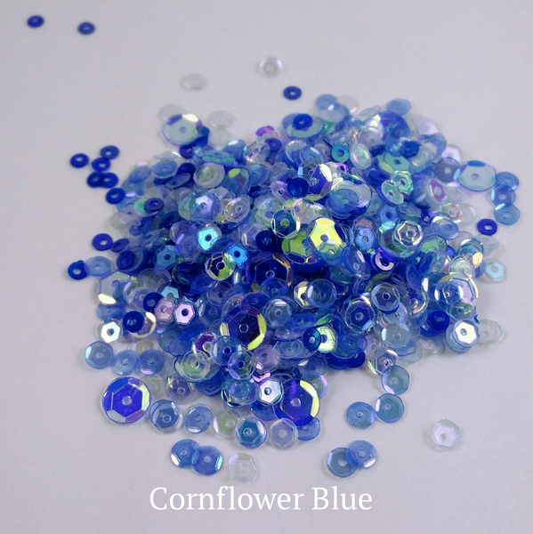 Cornflower Blue Sequin-tials