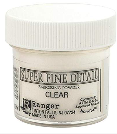 Ranger Super Fine Detail clear Embossing Powder