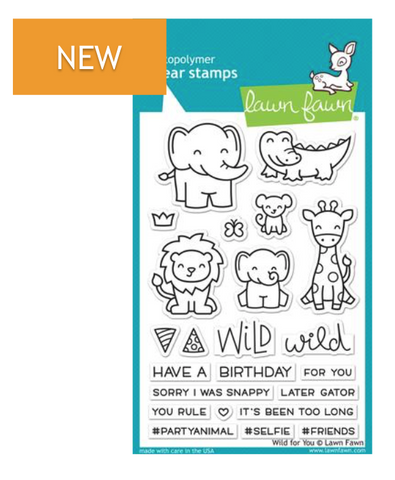 Lawn Fawn Wild for You Stamp Set