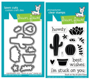 Lawn Fawn Stuck on You STAMPS & DIES BUNDLE